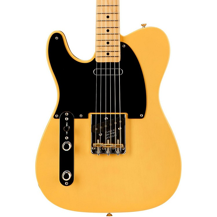 Fender American Vintage '52 Telecaster Left Handed Electric Guitar Butterscotch Blonde Maple Neck