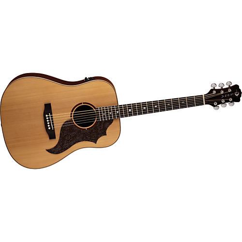 Luna Guitars Americana Acoustic-Electric Guitar (Leather P. Guard)
