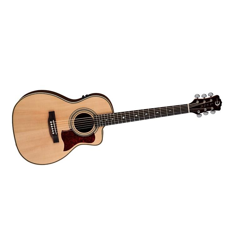 Luna GuitarsAmericana Classic AMP 100 Parlor Cutaway Acoustic-Electric Guitar