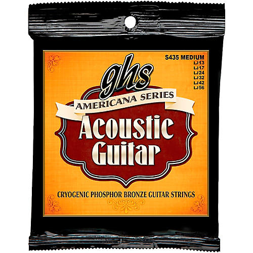 GHS Americana Medium Acoustic Guitar Strings (13-56)-thumbnail