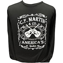 Martin America's Dual Guitar Logo - Long Sleeve Black T-Shirt Medium