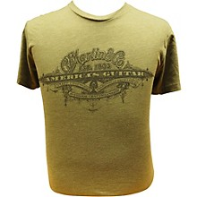 Martin America's Guitar - Black Logo on Military Green T-Shirt Large