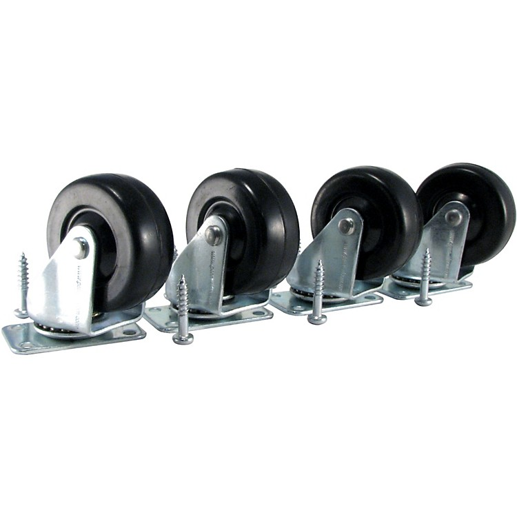 Ernie Ball Amp Caster Standard Plate Mount Set of 4