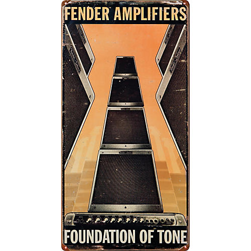 Fender Amplifiers Vintage Metal Sign