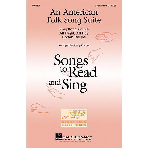 Hal Leonard An American Folk Song Suite 3 Part Treble arranged by Shelly Cooper
