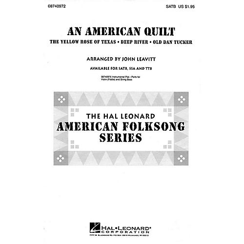 Hal Leonard An American Quilt (A Collection of 3 American Folksongs) SATB arranged by John Leavitt
