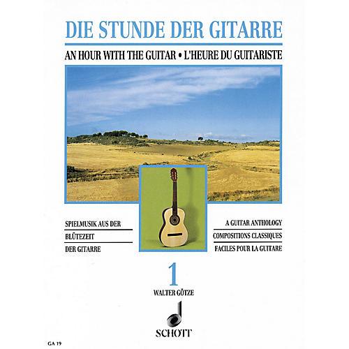 Schott An Hour with the Guitar - Volume 1 (A Guitar Anthology) Schott Series-thumbnail