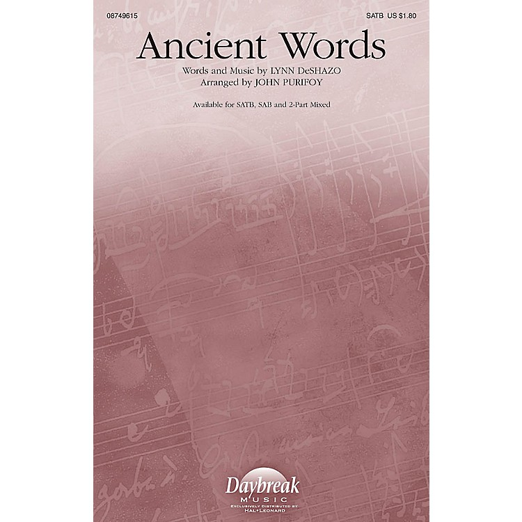 Hal Leonard Ancient Words SATB