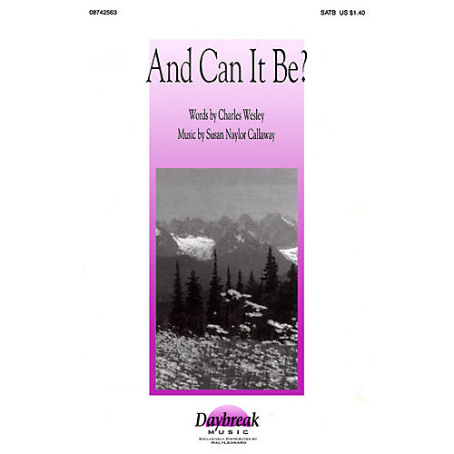 Daybreak Music And Can It Be? SATB-thumbnail