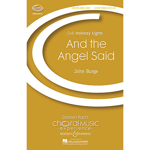 Boosey and Hawkes And the Angel Said (CME Holiday Lights) 3 Part Treble composed by John Burge-thumbnail