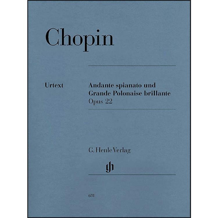 G. Henle VerlagAndante Spianato And Grande Polonaise Brillante E Flat Major Opus 22 By Chopin