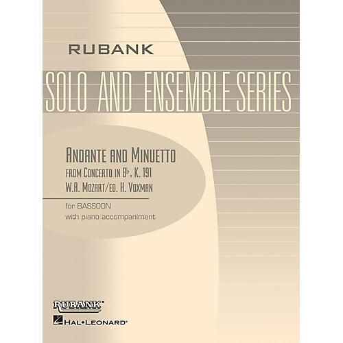 Rubank Publications Andante and Menuetto (from Conc in Bb, K.191) Rubank Solo/Ensemble Sheet Series-thumbnail