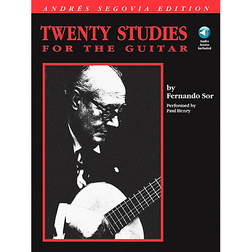 Hal Leonard Andres Segovia - 20 Studies for The Guitar Book/CD Package