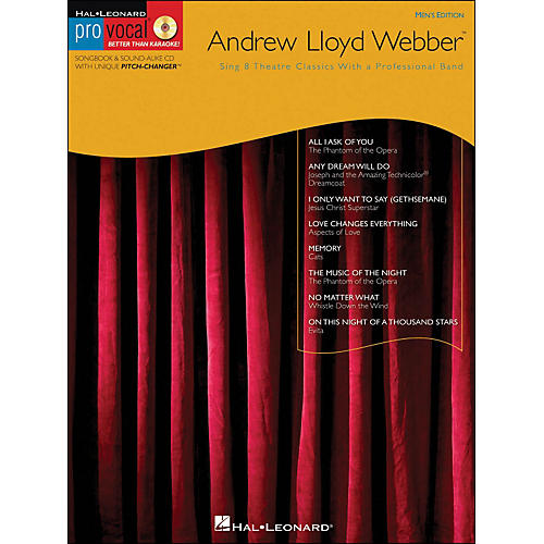 Hal Leonard Andrew Lloyd Webber - Pro Vocal Songbook Men's Edition Volume 11 Book/CD