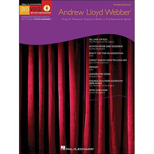 Hal Leonard Andrew Lloyd Webber Pro Vocal Series Women's Edition Book/CD Volume 10