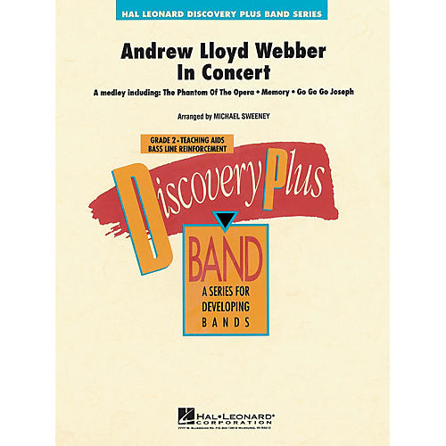 Hal Leonard Andrew Lloyd Webber in Concert - Discovery Plus Band Series Level 2 arranged by Michael Sweeney
