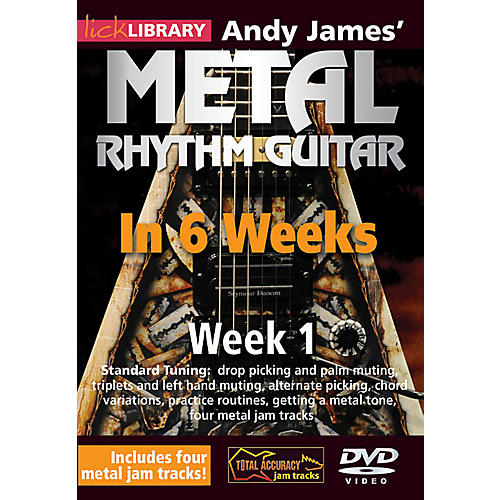 Licklibrary Andy James' Metal Rhythm Guitar in 6 Weeks (Week 1) Lick Library Series DVD Performed by Andy James-thumbnail