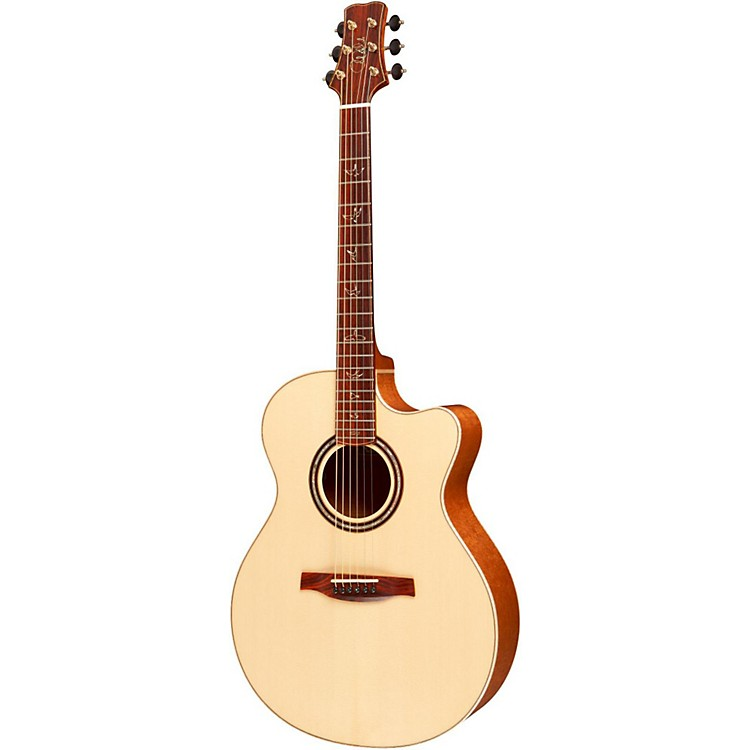 PRS Angelus Cutaway Acoustic Guitar with Figured Mahogany Back and Sides Natural