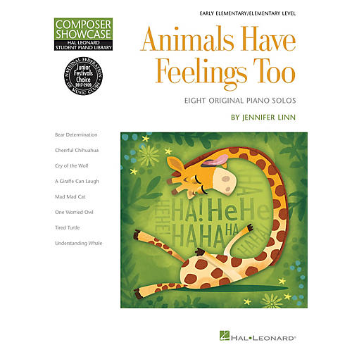 Hal Leonard Animals Have Feelings Too Piano Library Series Book by Jennifer Linn (Level Elem)