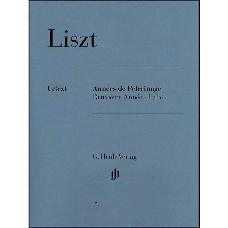 G. Henle VerlagAnnées de Pèlerinage, Deuxième Année: Italie By Liszt