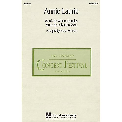 Hal Leonard Annie Laurie TTB arranged by Victor Johnson-thumbnail