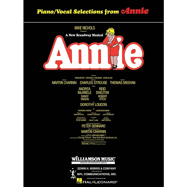 Hal Leonard Annie arranged for piano, vocal, and guitar (P/V/G)