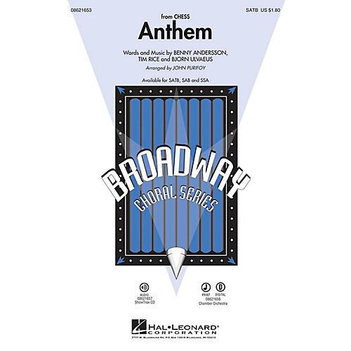 Hal Leonard Anthem (from Chess) SAB by Josh Groban Arranged by John Purifoy
