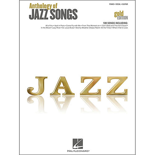 Hal Leonard Anthology Of Jazz Songs - Gold Edition arranged for piano, vocal, and guitar (P/V/G)
