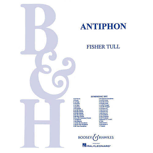 Boosey and Hawkes Antiphon (Score and Parts) Concert Band Composed by Fisher Tull-thumbnail