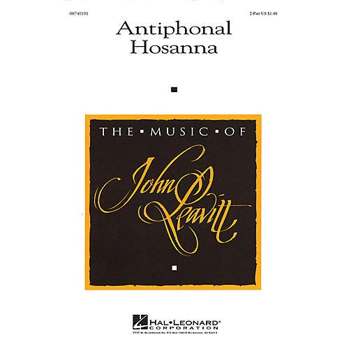 Hal Leonard Antiphonal Hosanna 2PT/PERCUSSION composed by John Leavitt-thumbnail