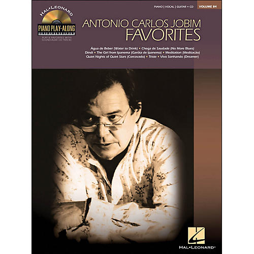 Hal Leonard Antonio Carlos Jobim Favorites - Piano Play-Along Volume 84 (CD/Pkg) arranged for piano, vocal, and guitar (P/V/G)-thumbnail