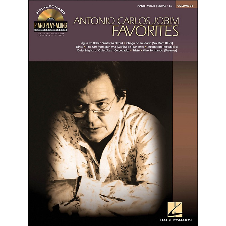 Hal LeonardAntonio Carlos Jobim Favorites - Piano Play-Along Volume 84 (CD/Pkg) arranged for piano, vocal, and guitar (P/V/G)