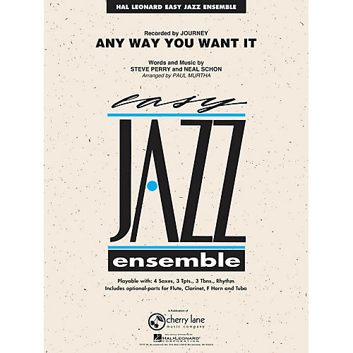 Hal Leonard Any Way You Want It - Easy Jazz Ensemble Series Level 2