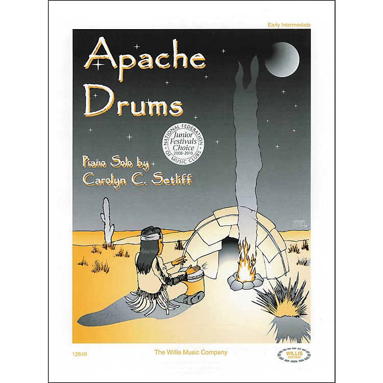 Willis Music Apache Drums Early Intermediate Piano Solo by Carolyn Setliff