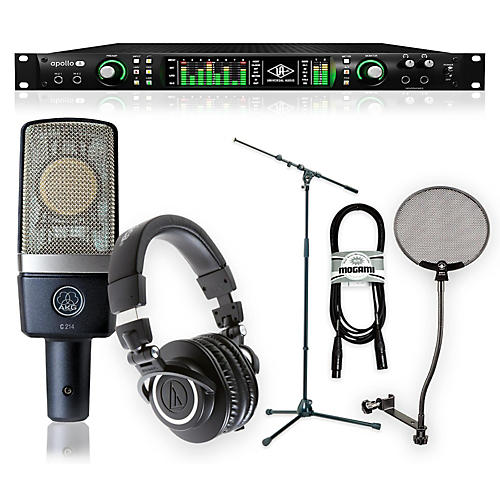 universal audio apollo 8 thunderbolt duo ath m50x and c214 package musician 39 s friend. Black Bedroom Furniture Sets. Home Design Ideas