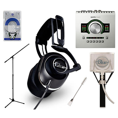 Universal Audio Apollo Twin DUO Black Lola Headphones and Spark Mic Package-thumbnail