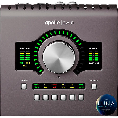 Universal Audio Apollo Twin MKII QUAD Thunderbolt Audio Interface-thumbnail