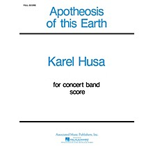 Associated Apotheosis of This Earth (Full Score) Concert Band Level 4-5 Composed by Karel Husa