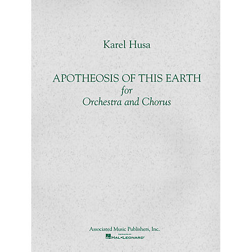 Associated Apotheosis of This Earth (Full Score) Study Score Series Composed by Karel Husa-thumbnail