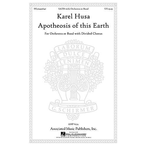 Associated Apotheosis of This Earth SATB composed by Karel Husa-thumbnail