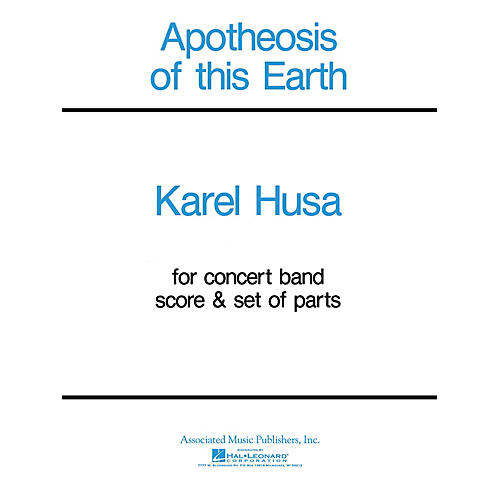 Associated Apotheosis of This Earth (Score and Parts) Concert Band Level 4-5 Composed by Karel Husa-thumbnail