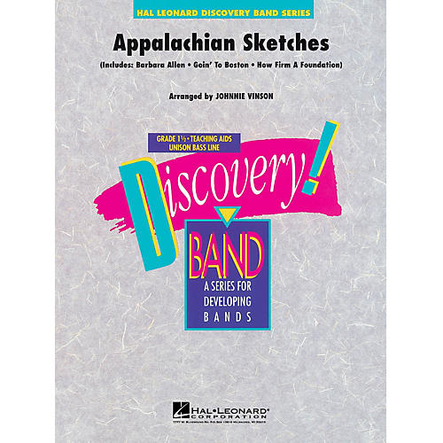 Hal Leonard Appalachian Sketches Concert Band Level 1.5 Arranged by Johnnie Vinson-thumbnail