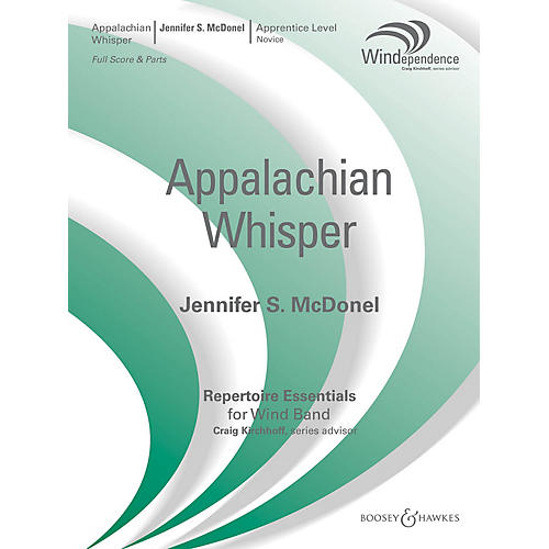 Boosey and Hawkes Appalachian Whisper (Score Only) Concert Band Level 1.5 Composed by Jennifer S. McDonel