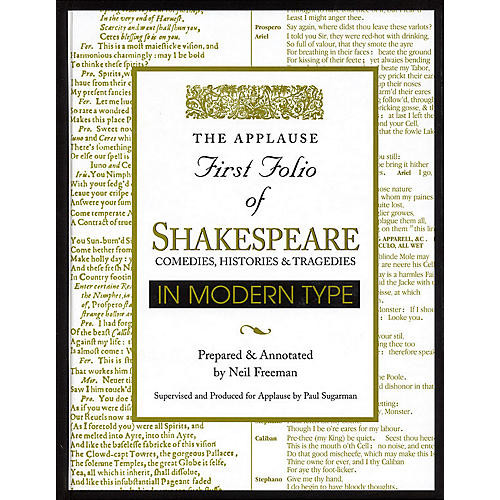 Applause Books Applause First Folio of Shakespeare in Modern Type Applause Books Series Hardcover by William Shakespeare-thumbnail