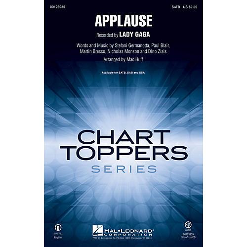 Hal Leonard Applause SATB by Lady Gaga arranged by Mac Huff