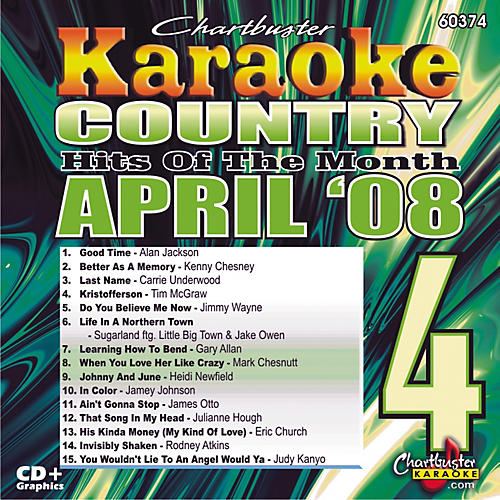 Chartbuster Karaoke April '08 Country Hits Karaoke CD+G-thumbnail