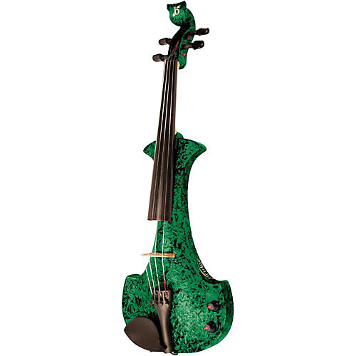 Bridge Aquila Series 4-String Electric Violin Green Marble
