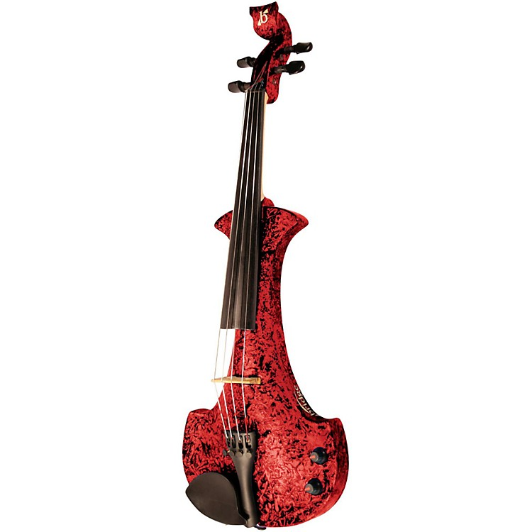 Bridge Aquila Series 4-String Electric Violin Red Marble