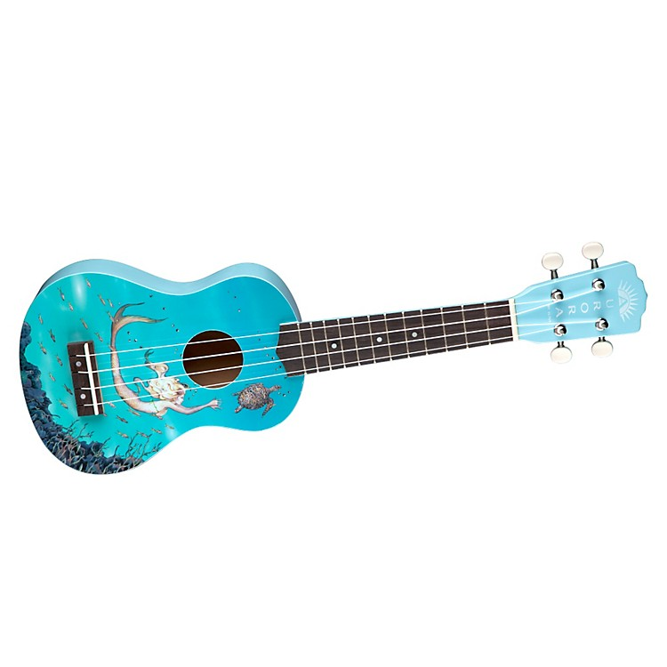 Luna Guitars Ar Uke Soprano Ukulele Mermaid Graphic