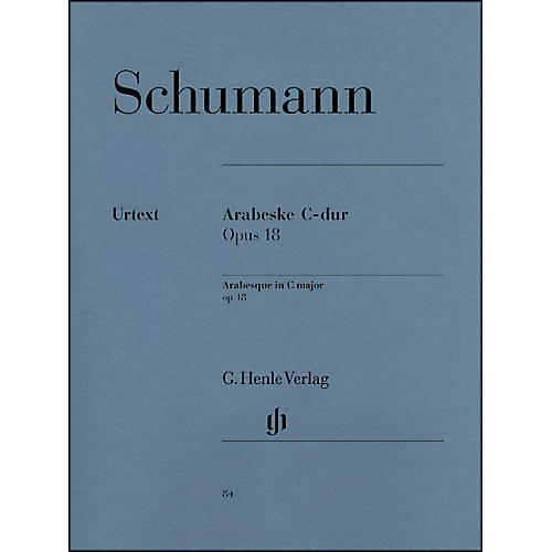 G. Henle Verlag Arabesque C Major Op. 18 By Schumann